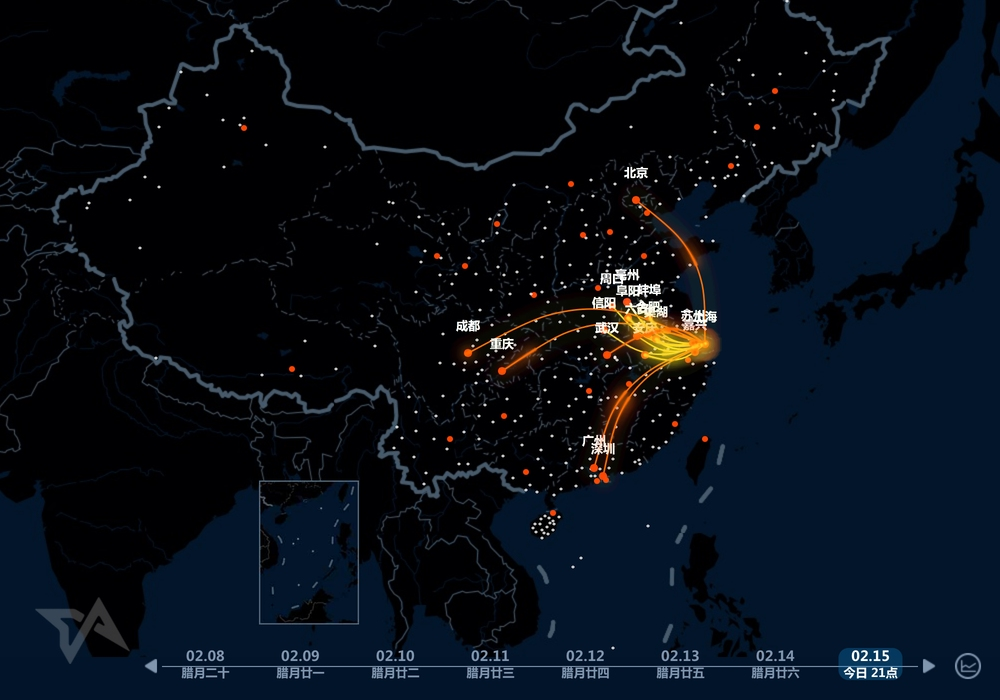 Amazing heat map shows massive chinese new year migration baidu heat map chinese new year travel gumiabroncs Image collections