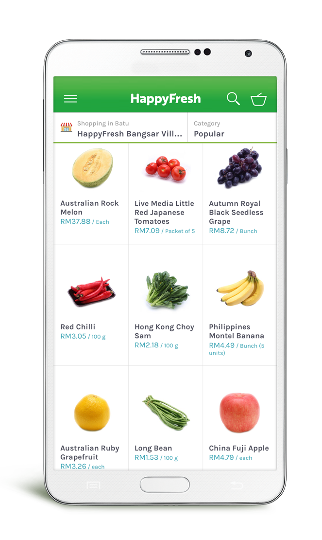 HappyFresh is a new grocery app in Indonesia and Malaysia