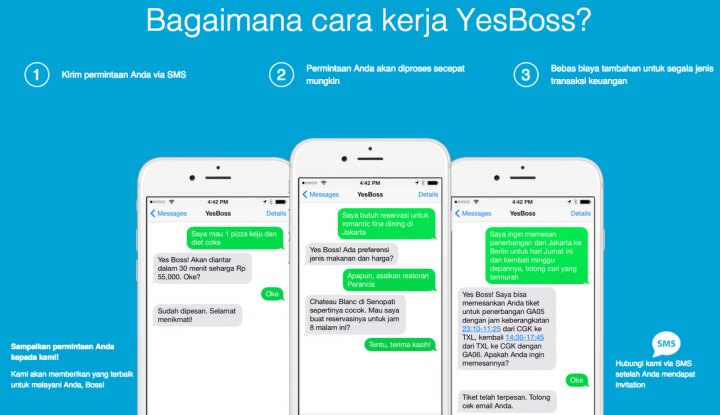 YesBoss is Indonesia's answer to Magic, get anything via SMS