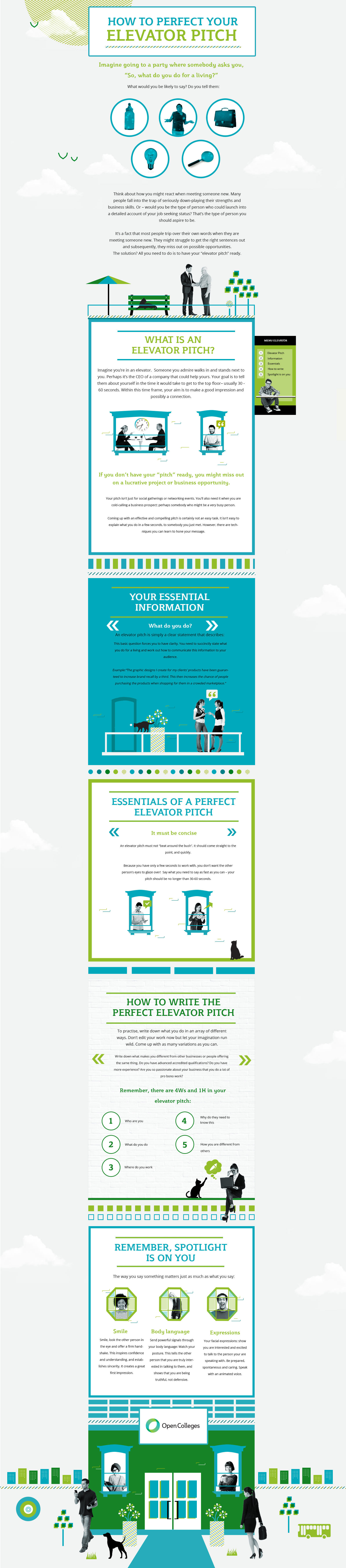 How to perfect your career elevator pitch (infographic)