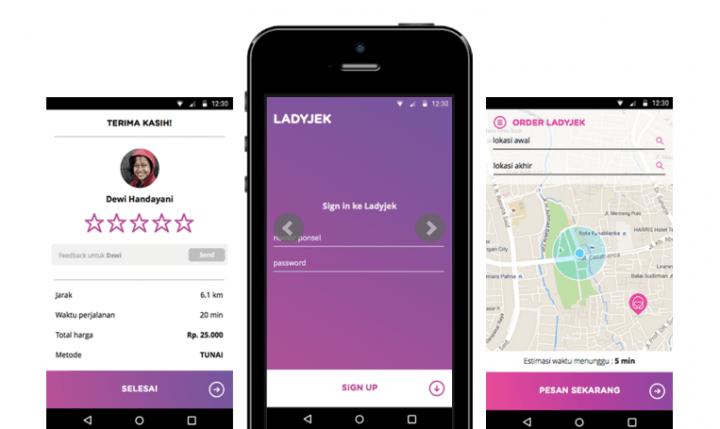 LadyJek is Indonesia's women-only motorcycle ridesharing app