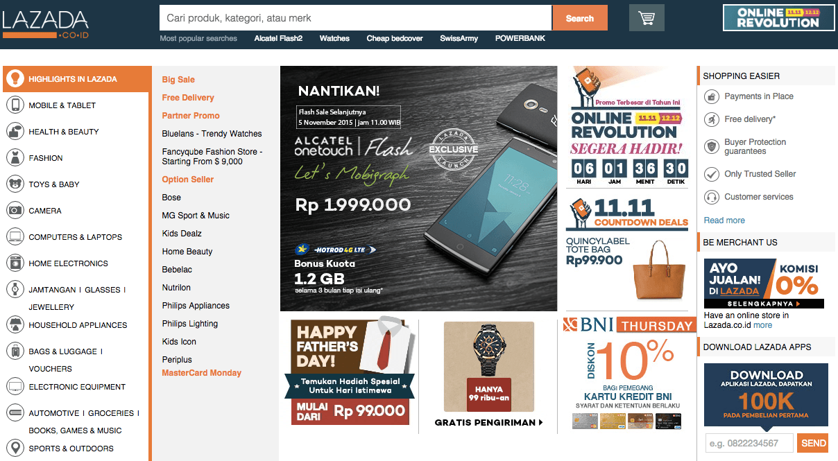 28 popular online shopping sites in Indonesia