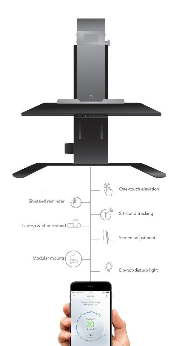 Aspirus Smart Standing Workstation Hits Indiegogo