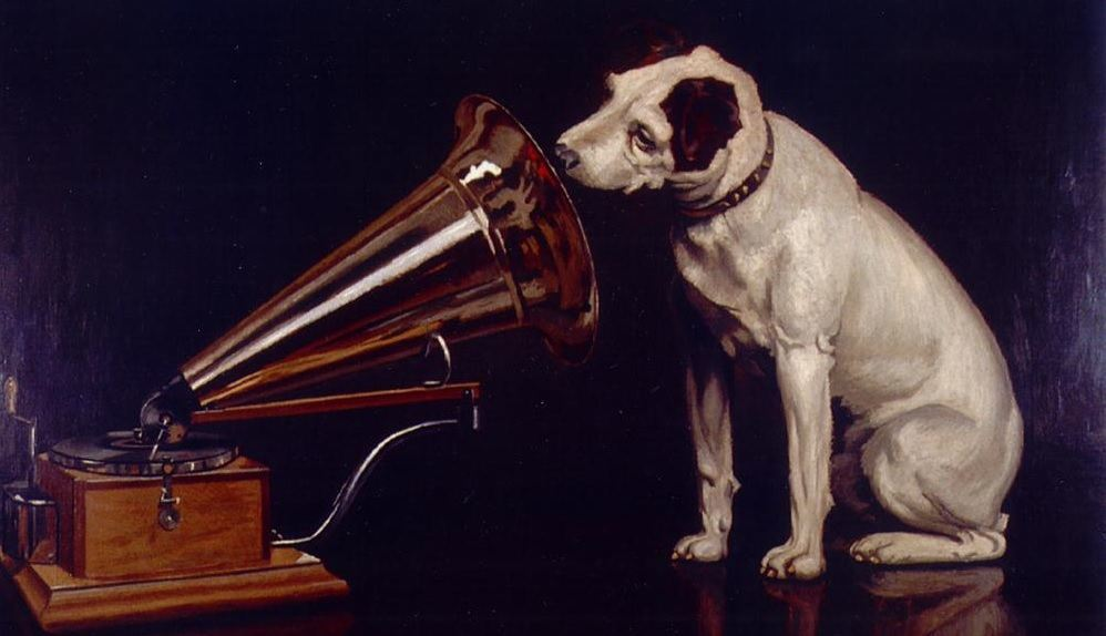His master's voice - advertising