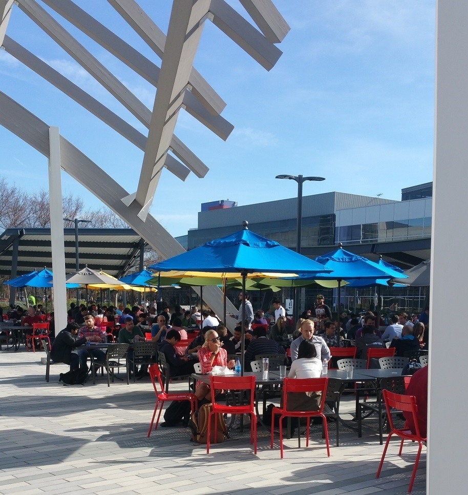 Outdoor Lunch day at Google HQ