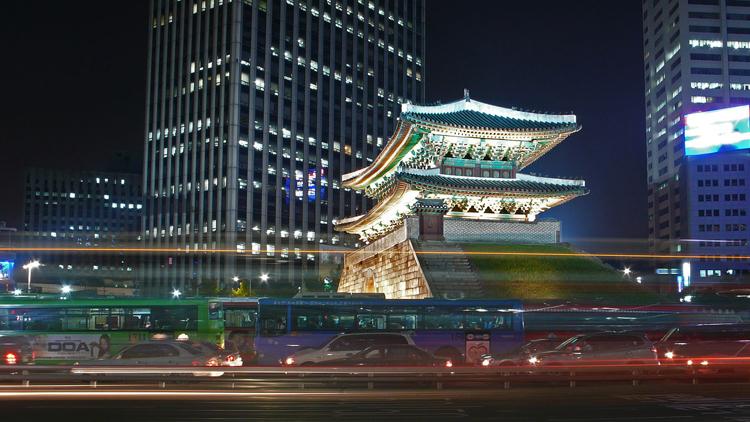 The Seoul cityscape at night. Photo credit: Wikimedia.