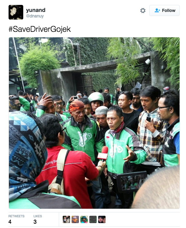 Go Jek: Drivers Stage Another Protest After Go-Jek Lowers Prices