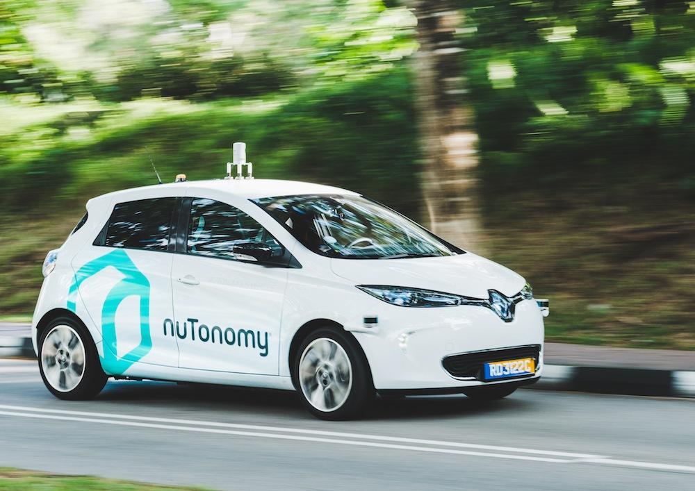 nuTonomy autonomous taxi in Singapore