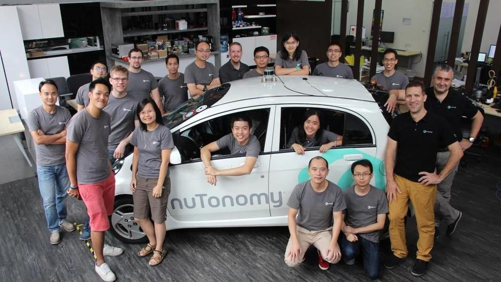 nuTonomy driverless taxi in Singapore
