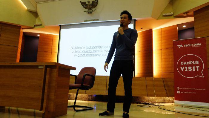 Benny Fajarai at a Tech in Asia Campus event in Indonesia. Photo credit: TIA Indonesia.