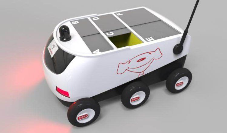 Alibaba's biggest rival unveils cute drone delivery bots