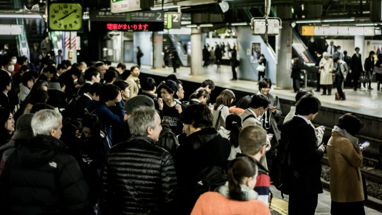 A busy subway station in Japan. Photo credit: Redd Angelo