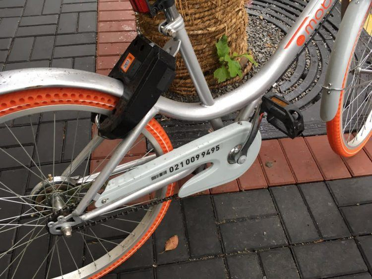 Mobike's serial number. Photo credit: Tech in Asia.