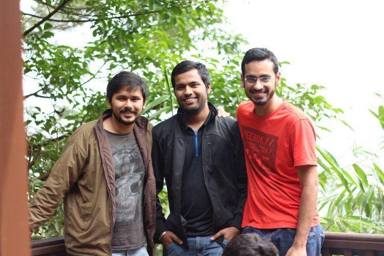 ShareChat founders Farid Ahsan, Bhanu Singh, and Ankush Sachdeva. Photo Credit: ShareChat.