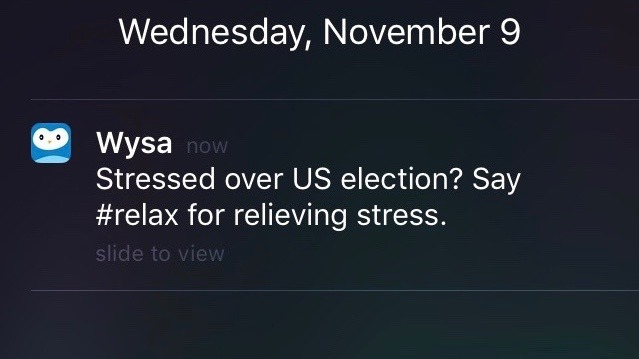 I got this notification while watching the US presidential results.