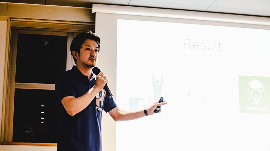 PortHub CEO Takanori Sato.