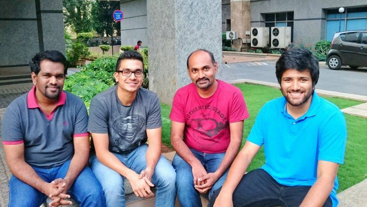 Founder and CEO of VaultEdge, Sajeev Aravindan (second from left), with his team. Photo credit: VaultEdge.