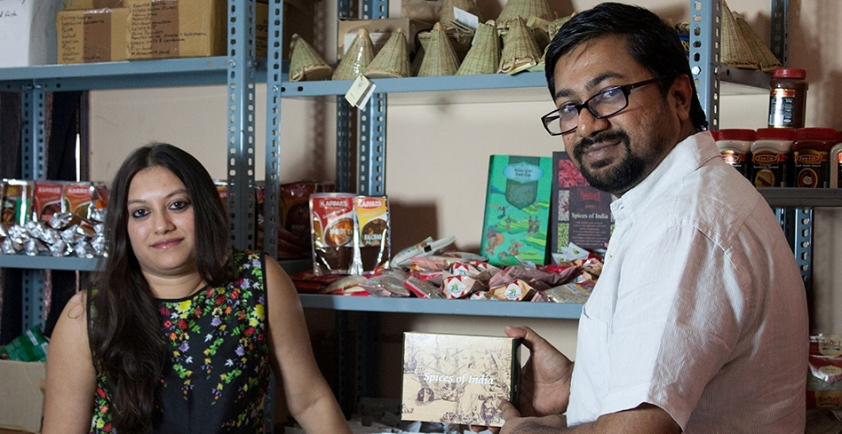 The husband-wife team of Tulsi Khemka and Nitesh Aggarwal.