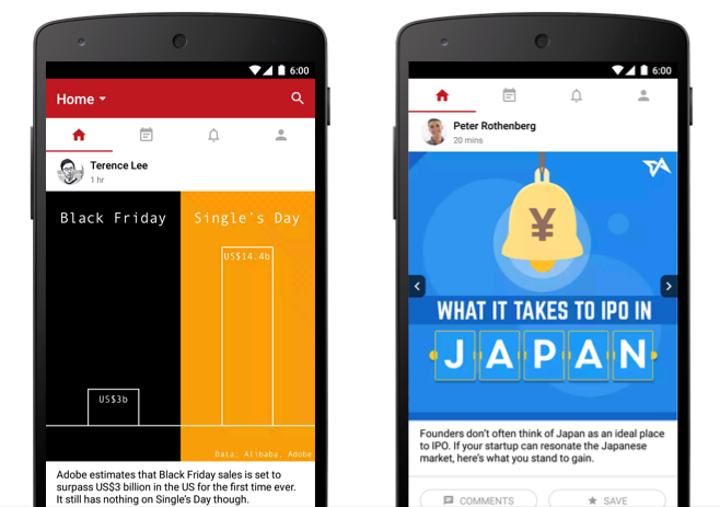 Tech in Asia Android app now summarizes the top tech stories