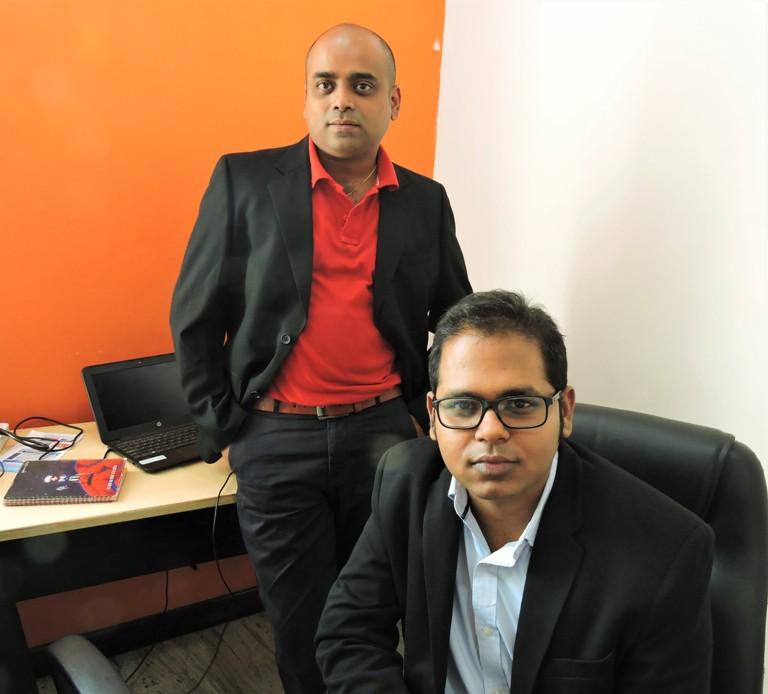 TripExploria co-founders Samrat Patnaik and Sagar Kumar Parida.