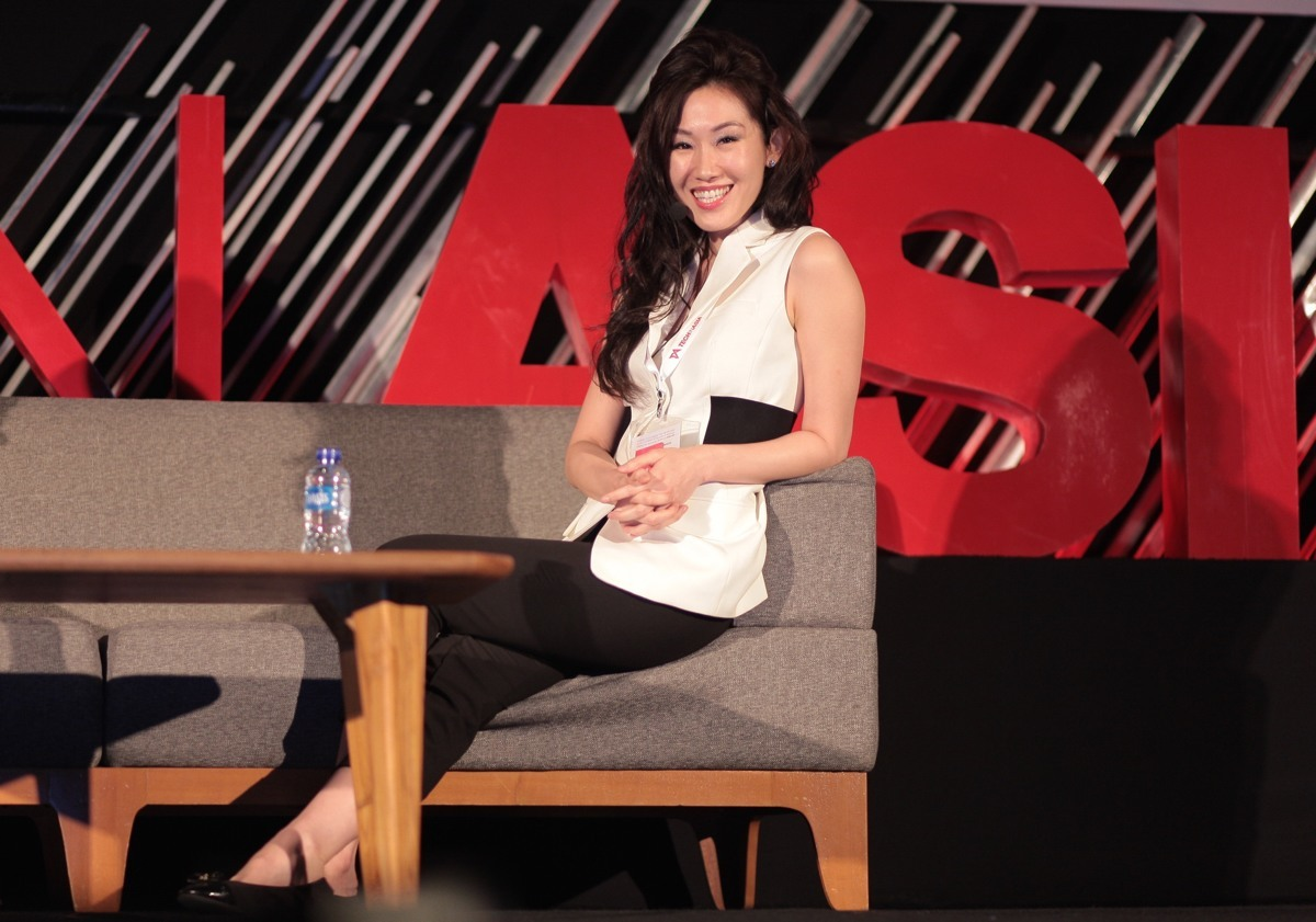 Veronika Linardi at Tech in Asia conference.