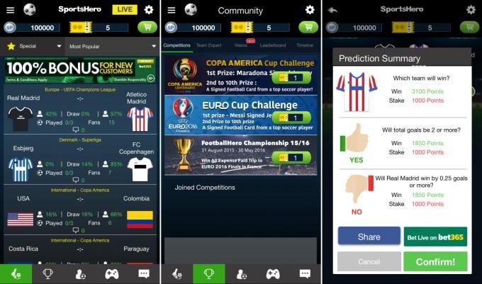 SportsHero mobile app