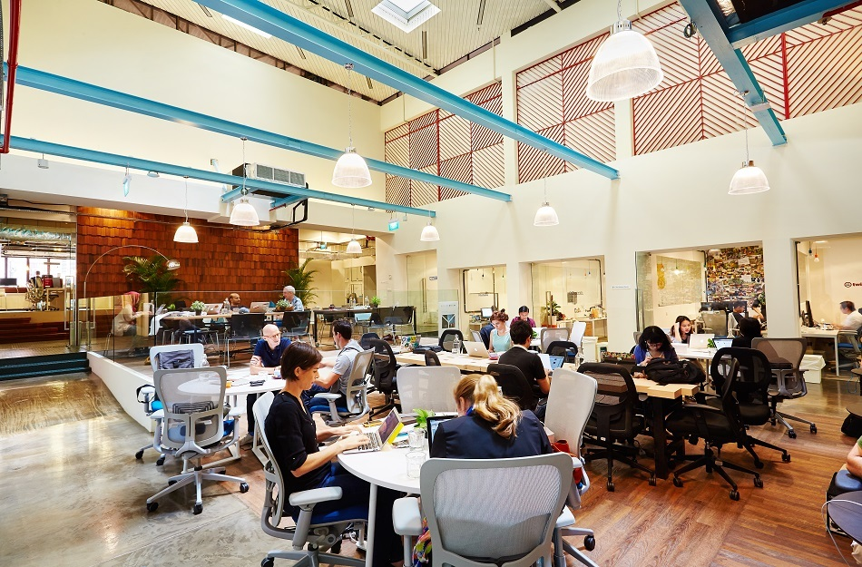 The Hub co-working space in Singapore