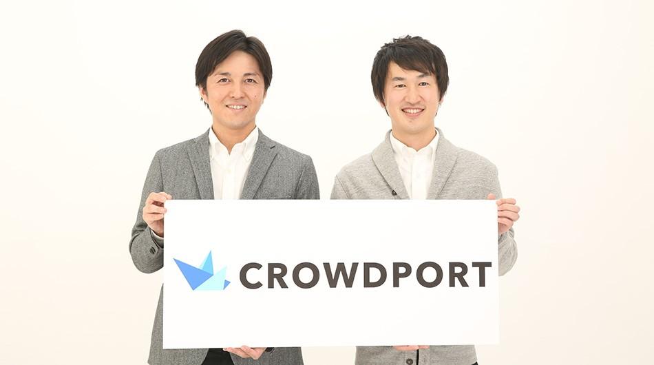 Crowdport CEO Yuichiro Fujita and co-founder Yo Shibata.