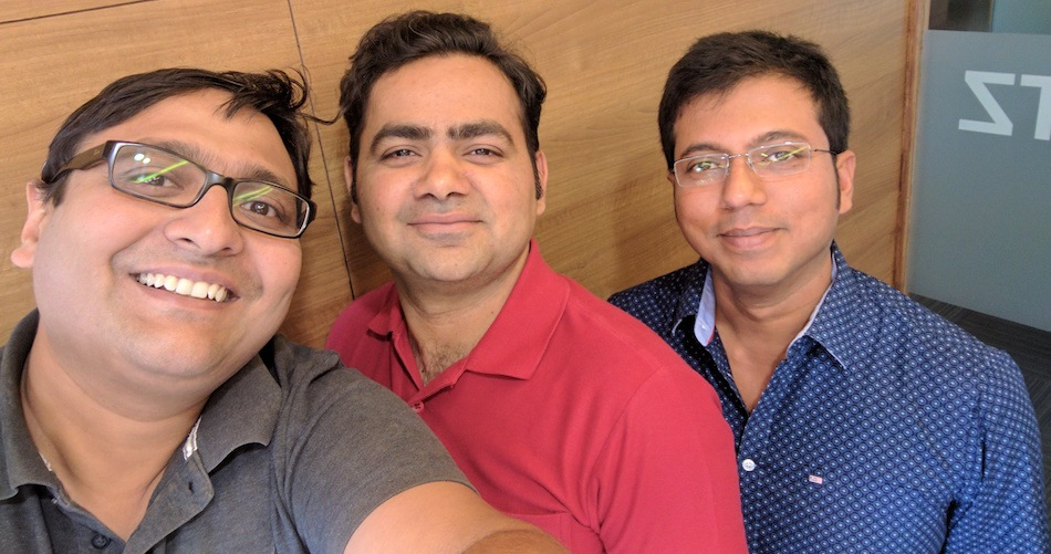 SigTuple co-founders Apurv Anand, Rohit Kumar Pandey, and Tathagato Rai Dastidar