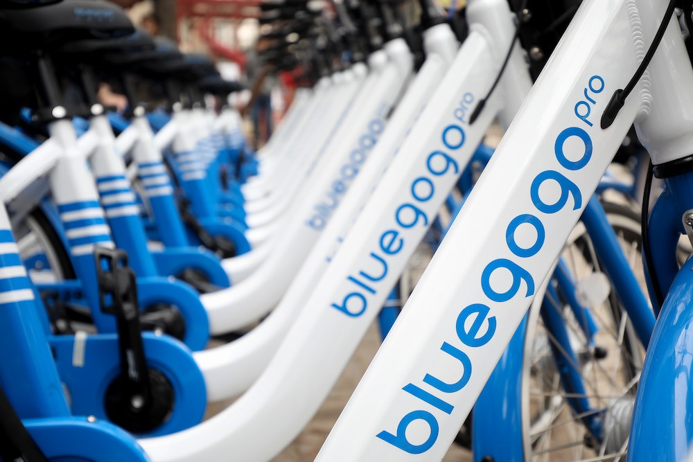 China bike-sharing startup Bluegogo
