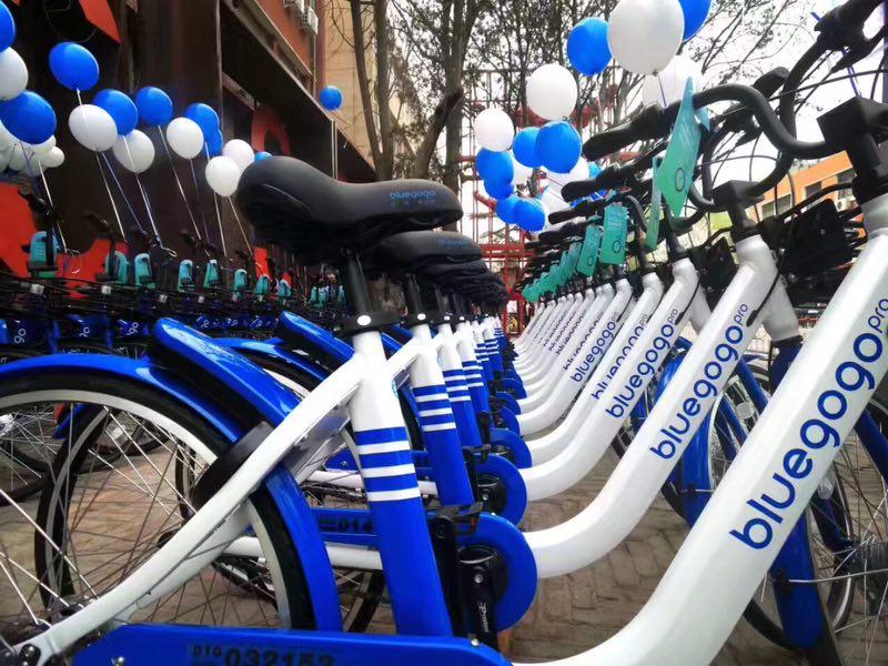 China bike-sharing startup Bluegogo