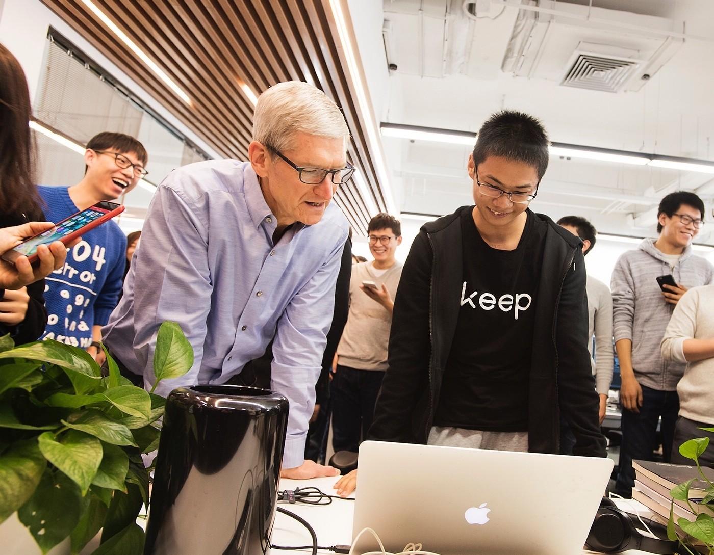 Tim Cook visits Keep, China startup