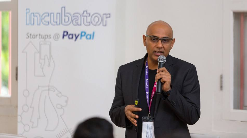 Anupam Pahuja, PayPal's GM of APAC technology and managing director of India technology at the PayPal incubator demo day.