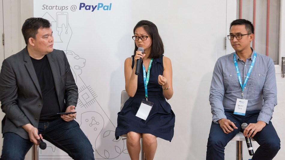 InvoiceInterchange co-founders Nalinee Chinowuthichai (middle) and Brian Teng (right).