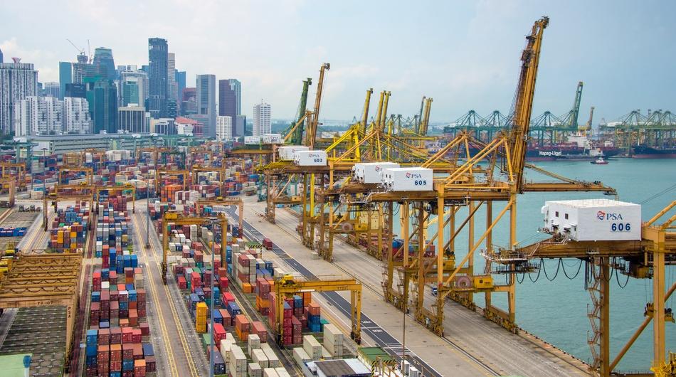 The Singapore port