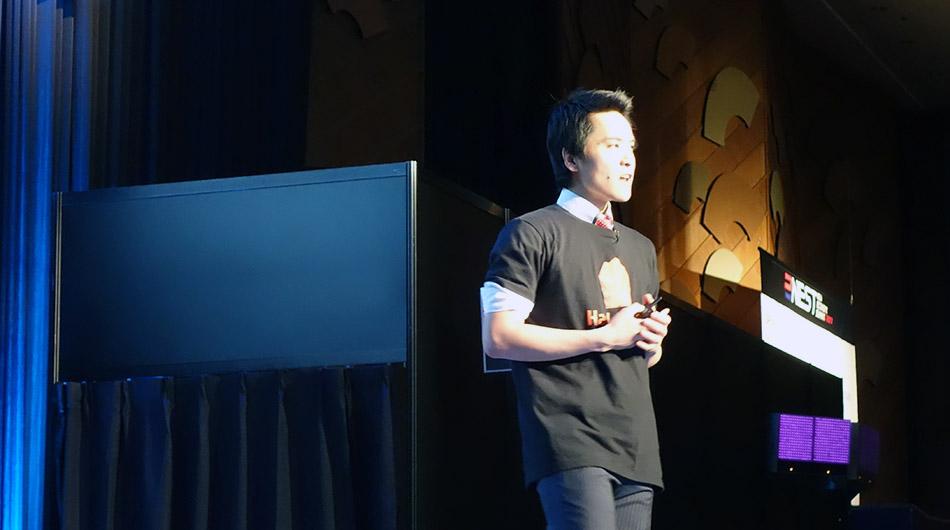 At COO Hiroki Okazaki at NEST 2017.