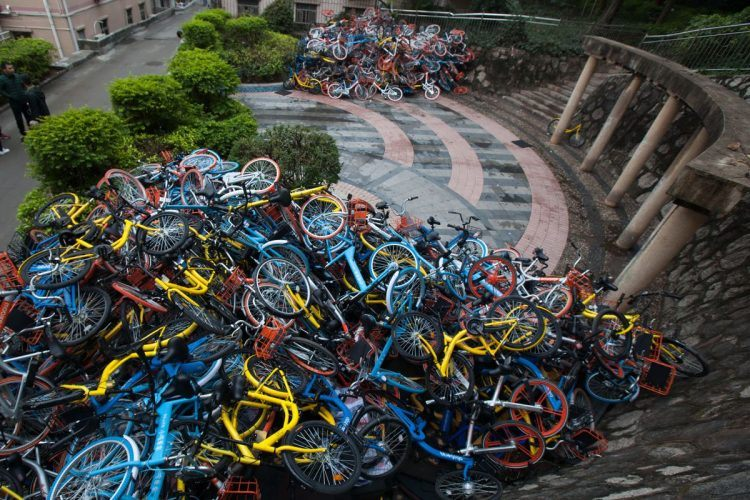 Brief: Chinese bike-sharing company shuts down after 90% of cycles go missing