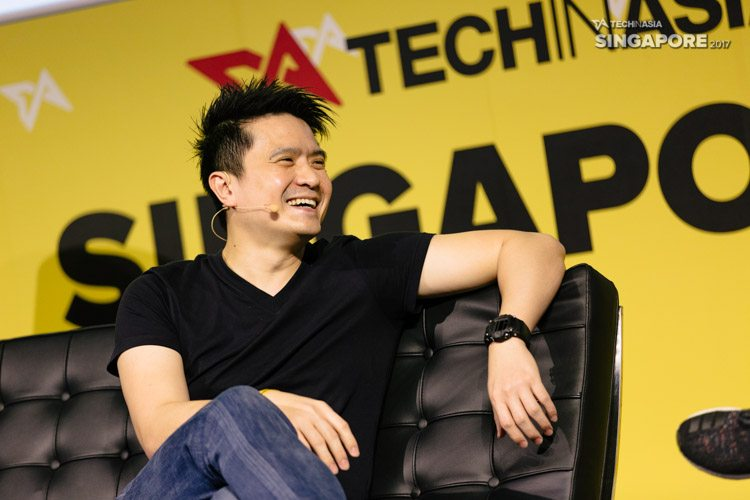 Razer CEO Min-Liang Tan on stage at Tech in Asia Singapore 2017