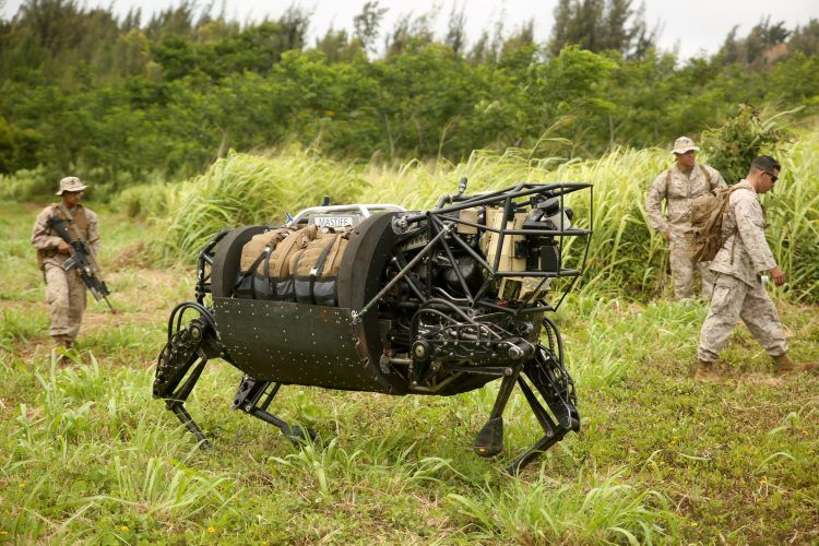 Boston Dynamics BigDog military variant.