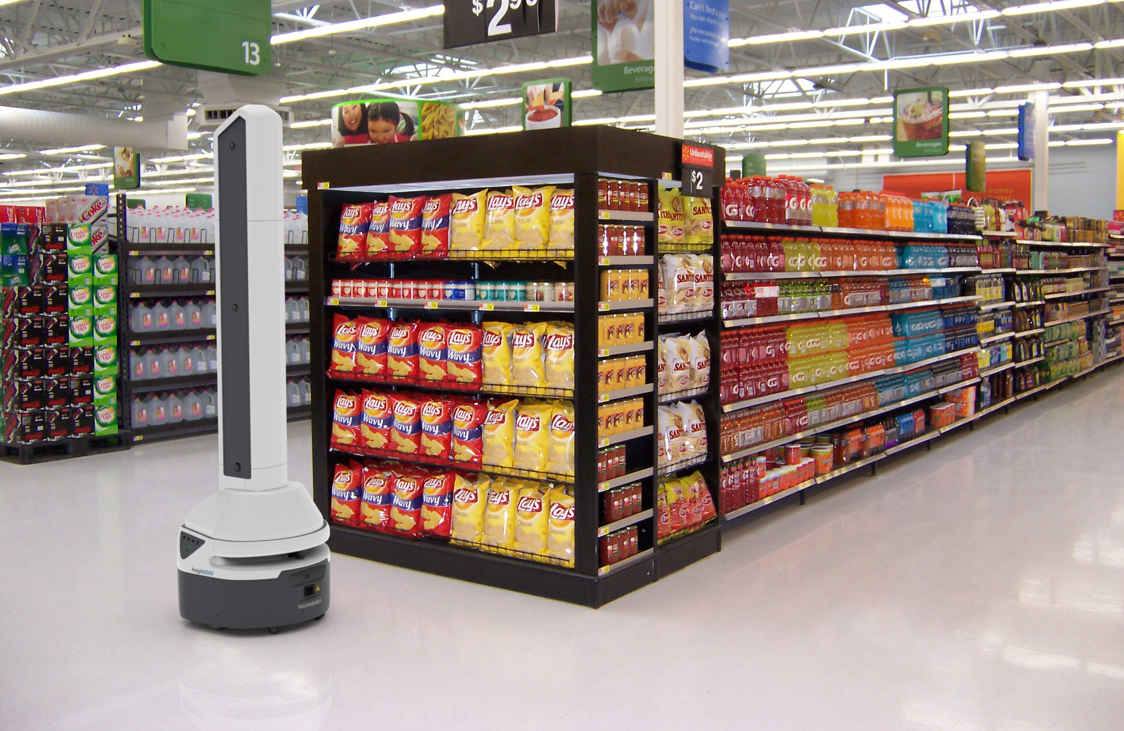 Image recognition robot in-store