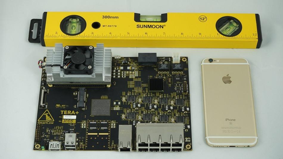 Smartcow Tera+ board size comparison