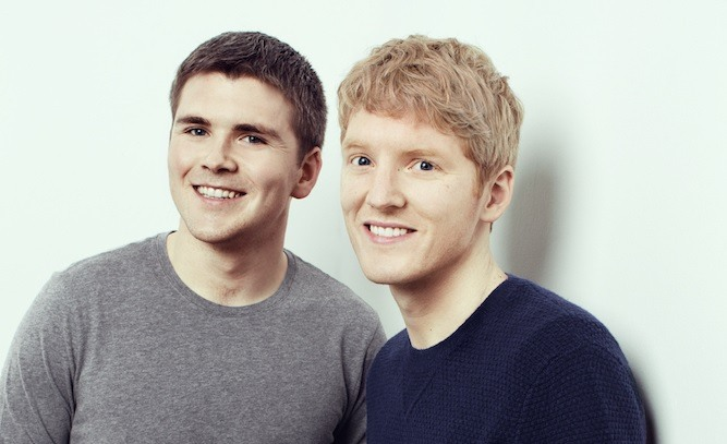 Stripe co-founders John Collison (L) and Patrick Collison