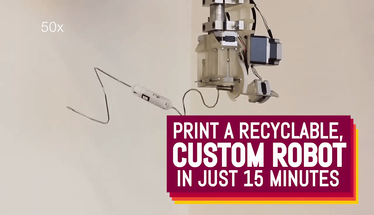 Custom printed recyclable robots are the future. Maybe.
