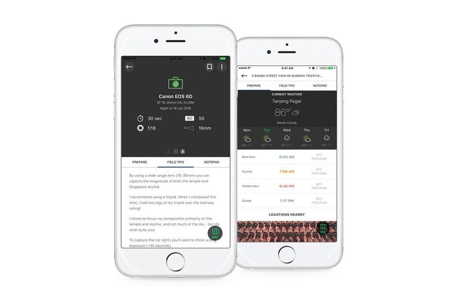 Explorest iOS app