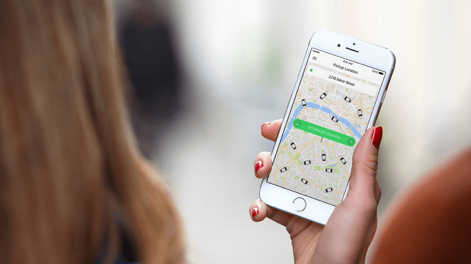 Taxify ride-hailing mobile app