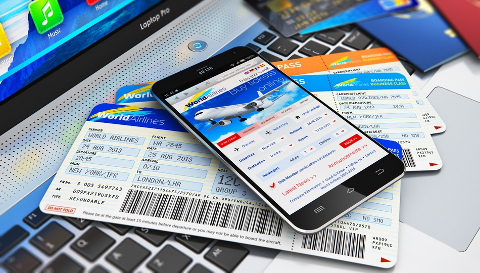 Air tickets booked via mobile