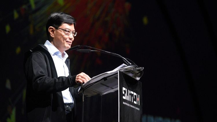 Singapore Minister of Finance Heng Swee Keat opens Switch 2017