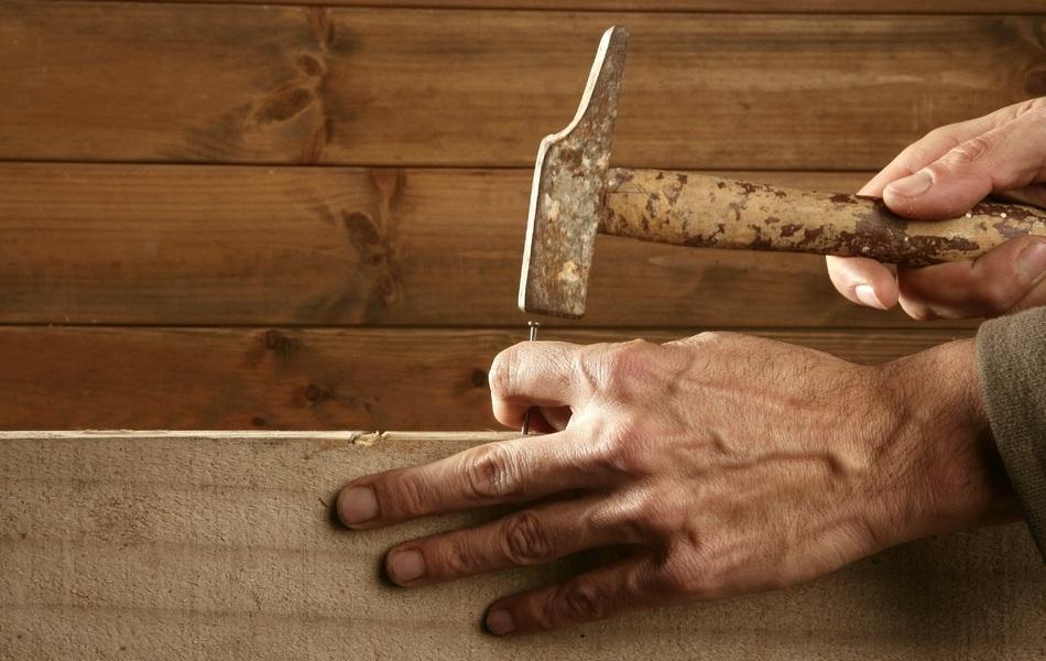 Hammer and nail, tools, building, construction