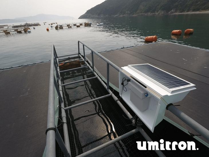 Umitron's system at an aquaculture farm