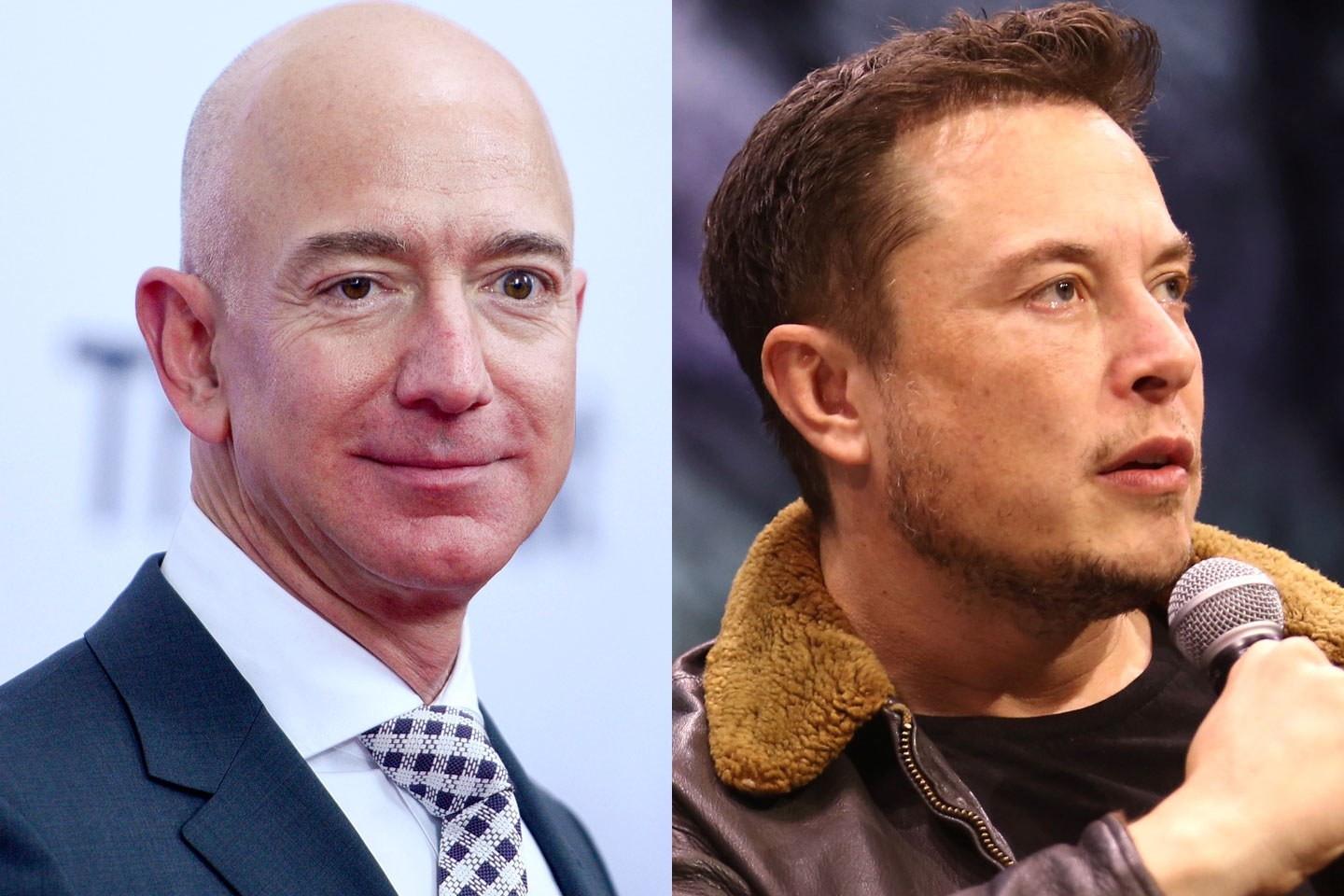 Image result for Elon Musk and Jeff Bezos